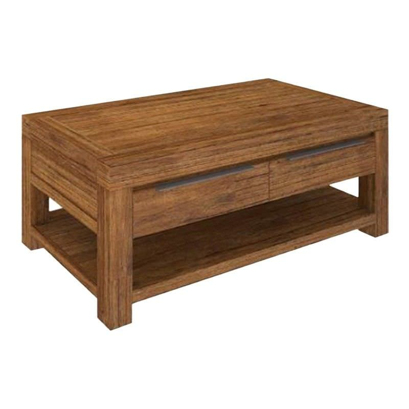 Ashton Mountain Ash Timber 2 Drawer Coffee Table