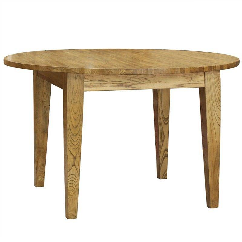 Sherwood Solid Oak Timber Round Dining Table, 120cm, Natural Oak
