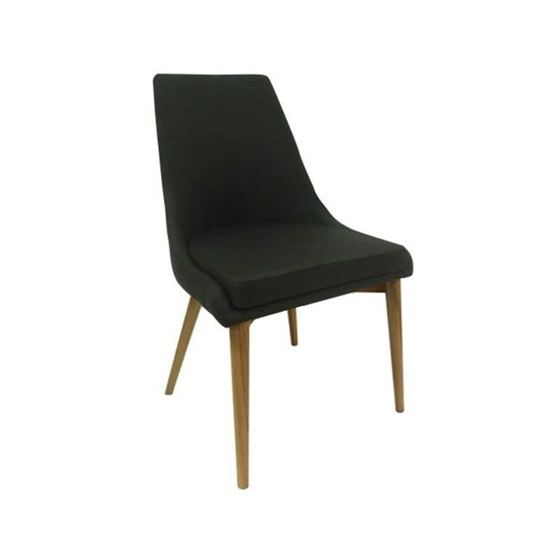 Archie Fabric Dining Chair - Black