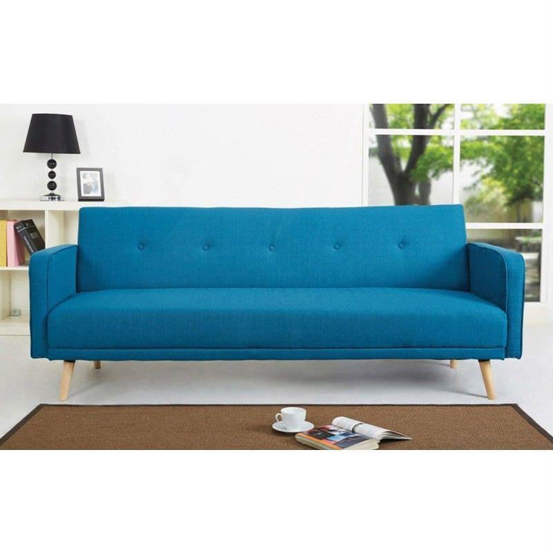 Egbert Fabric Click Clack Sofa Bed, Blue