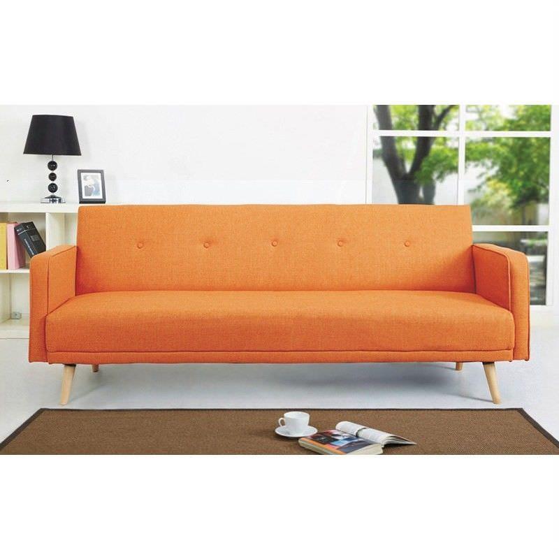 Egbert Fabric Click Clack Sofa Bed, Orange