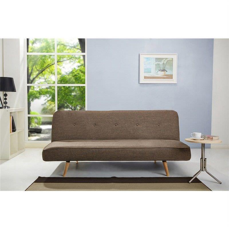 Matthew Click Clack Fabric Sofa Bed - Brown