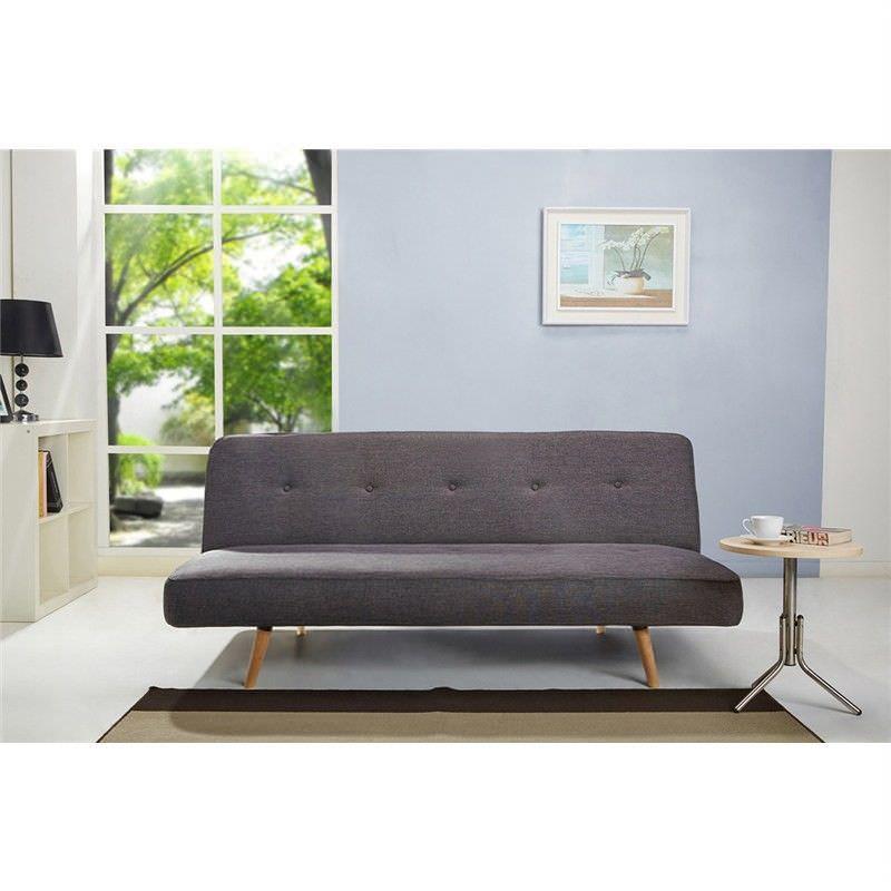 Matthew Click Clack Fabric Sofa Bed - Charcoal