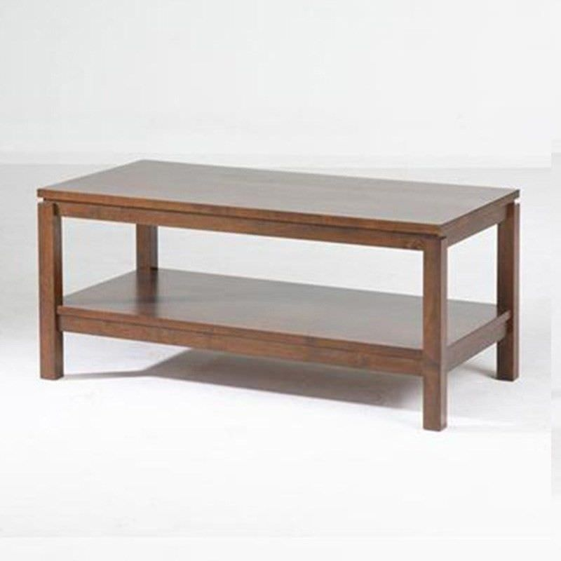 Braque Solid Rubberwood Timber 96cm Coffee Table  - Light Honey