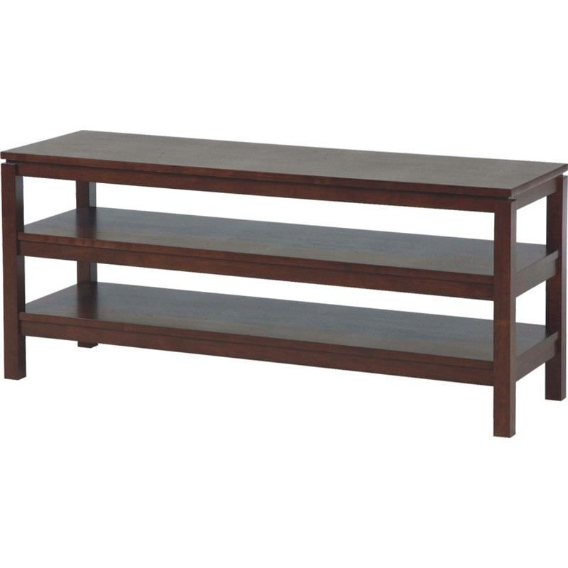 Braque Solid Rubberwood Timber 130cm Lowline TV Stand - Chocolate
