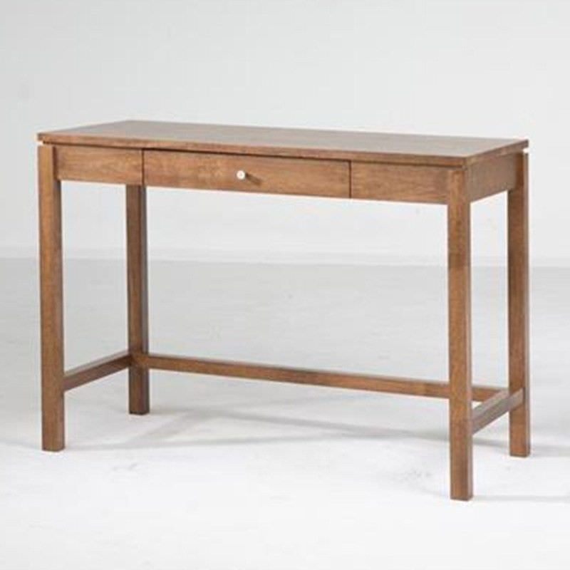 Braque Solid Rubberwood Timber Single Drawer Writing Desk  - Natural