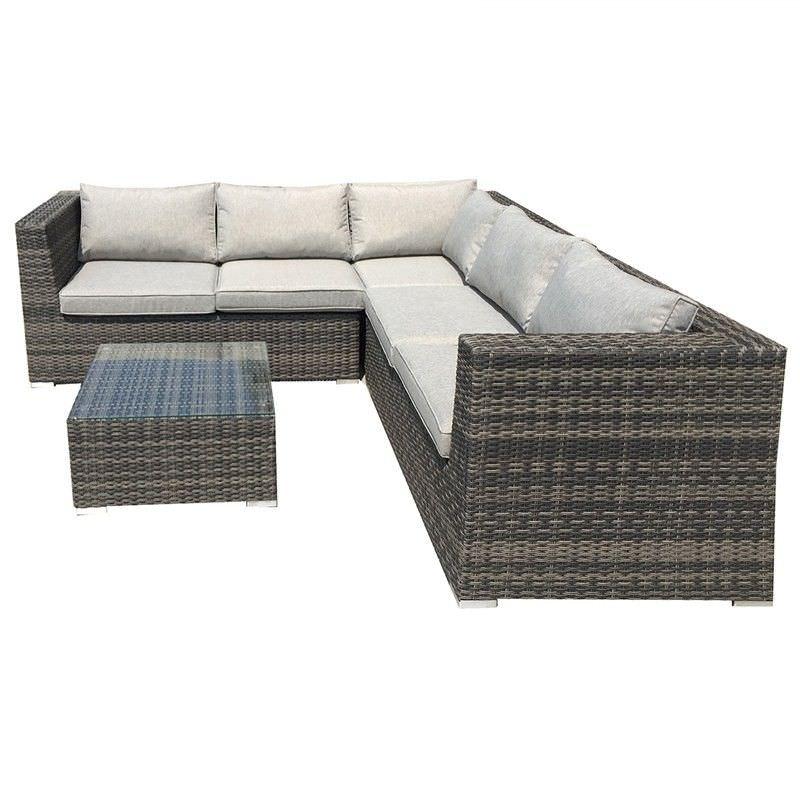 Sanford Wicker Outdoor Corner Lounge Set