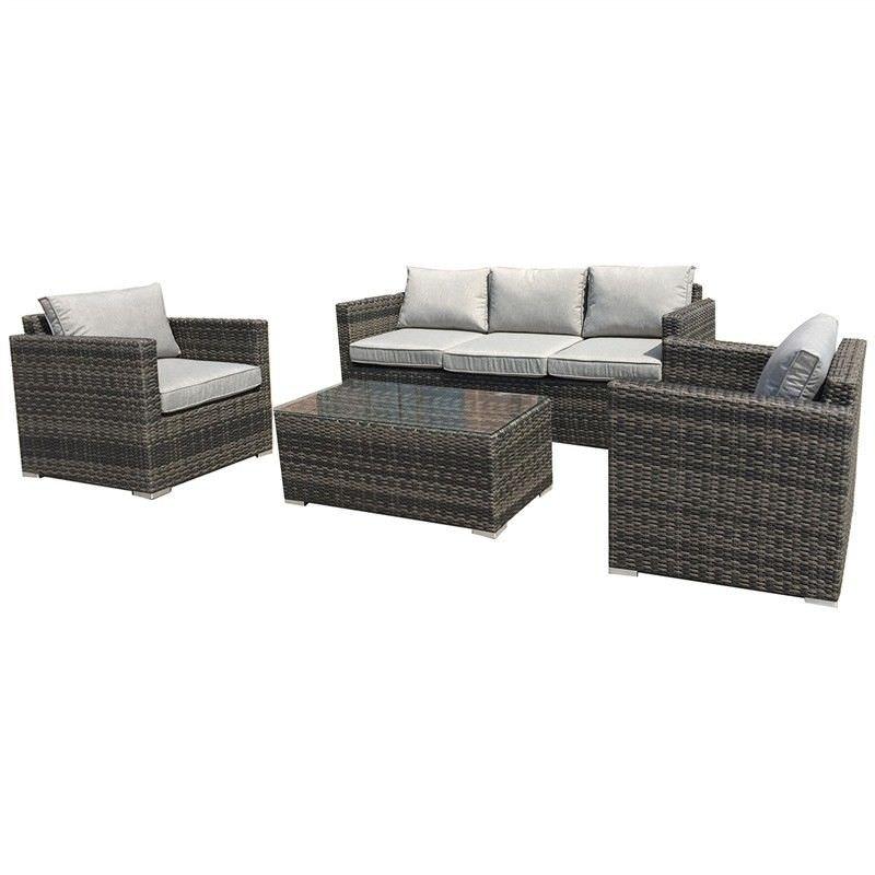 Sanford 4 Piece Wicker Outdoor Sofa Set