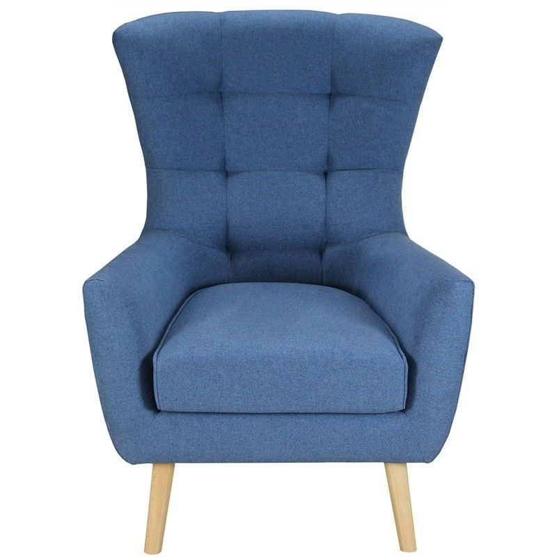 Molehill Fabric Armchair - Blue