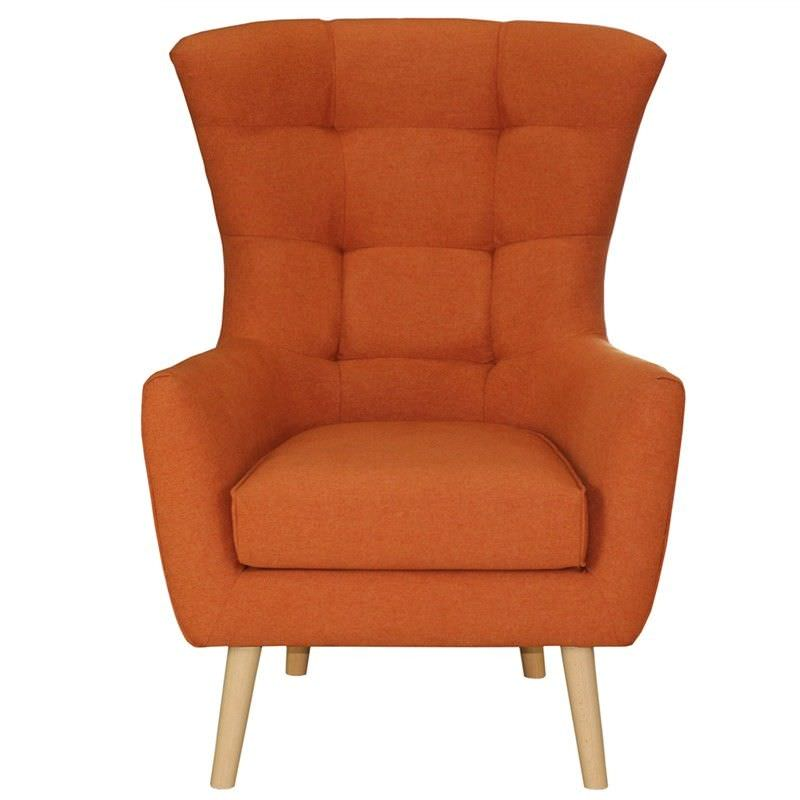 Molehill Fabric Armchair - Orange