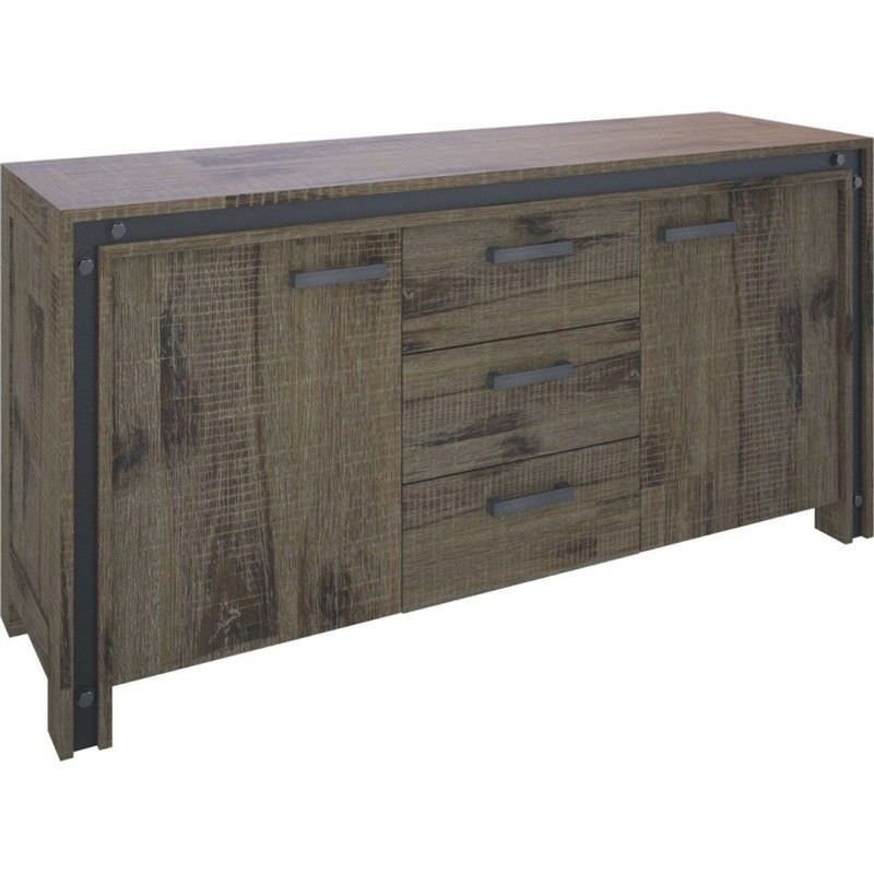 Pittsfield Solid Acacia Timber 2 Door 3 Drawer 170cm Sideboard