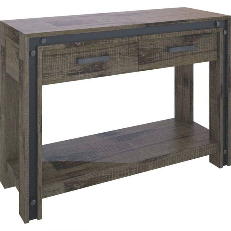 Pittsfield Solid Acacia Timber 2 Drawer 120cm Console Table