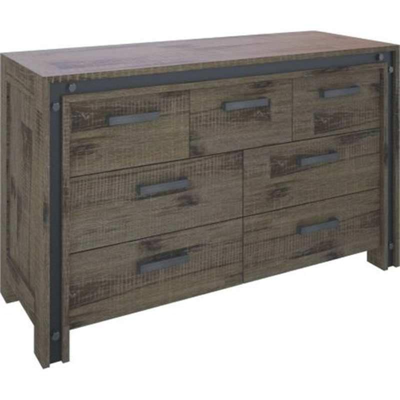 Pittsfield Acacia Timber 7 Drawer Dresser