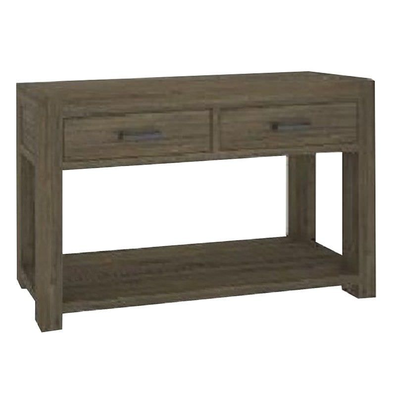 Yarsley Solid Acacia Timber 2 Drawer Console Table with Shelf