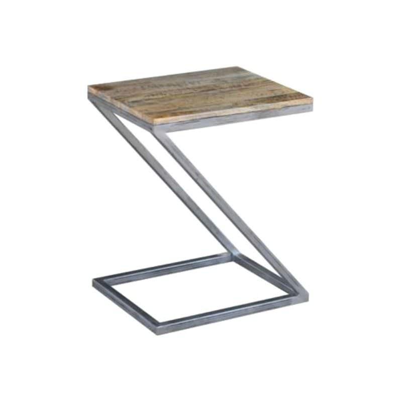 Byrne Mango Wood & Metal Z Shape Side Table