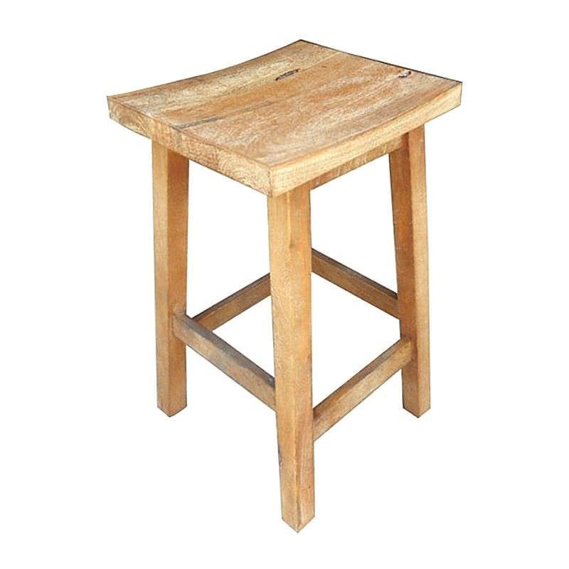 Osaka Solid Mango Wood Timber Counter Stool, Honey Wash