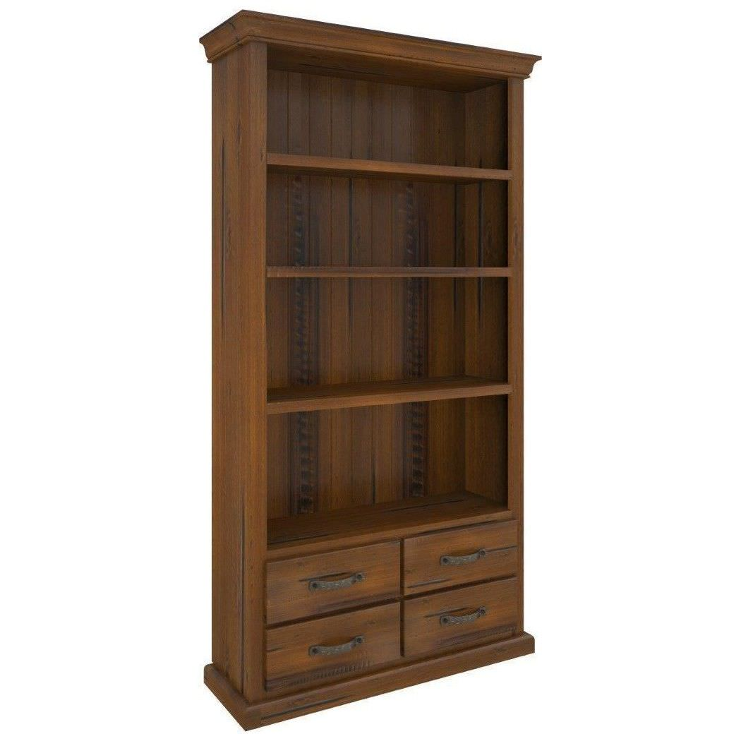 Mulford Solid Pine Timber Bookcase