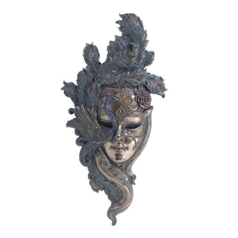 Venetian Mask Wall Art, Peacock Headdress