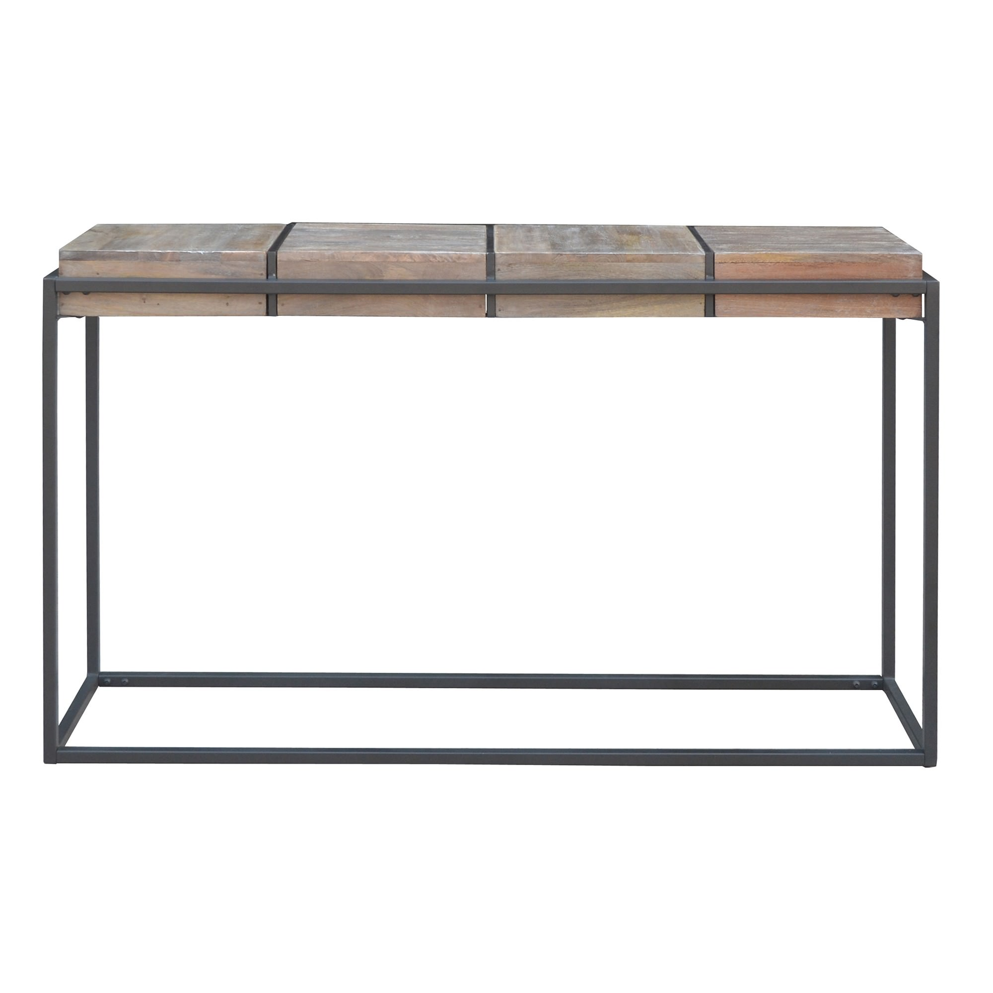 Ampuis Mango Wood & Metal Console Table, 135cm