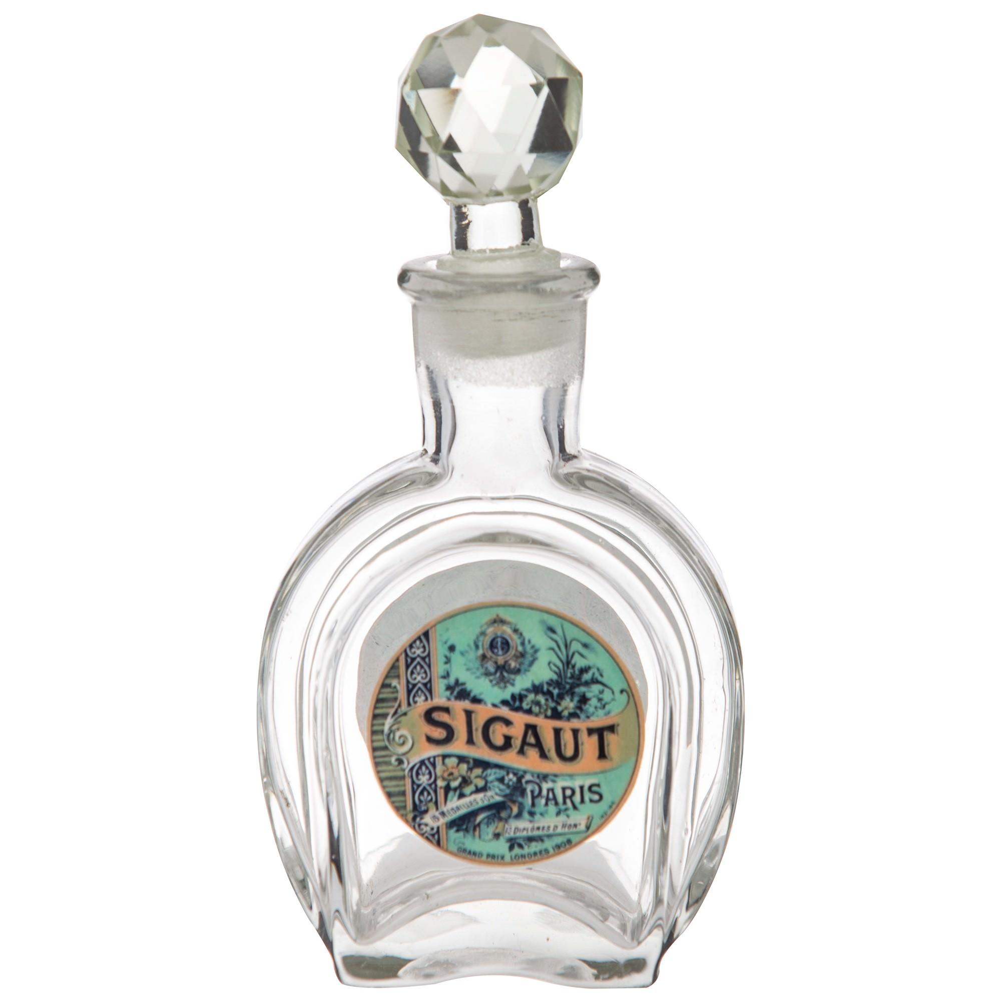Saint Pierre Vintage Glass Apothecary Bottle, Sigaut