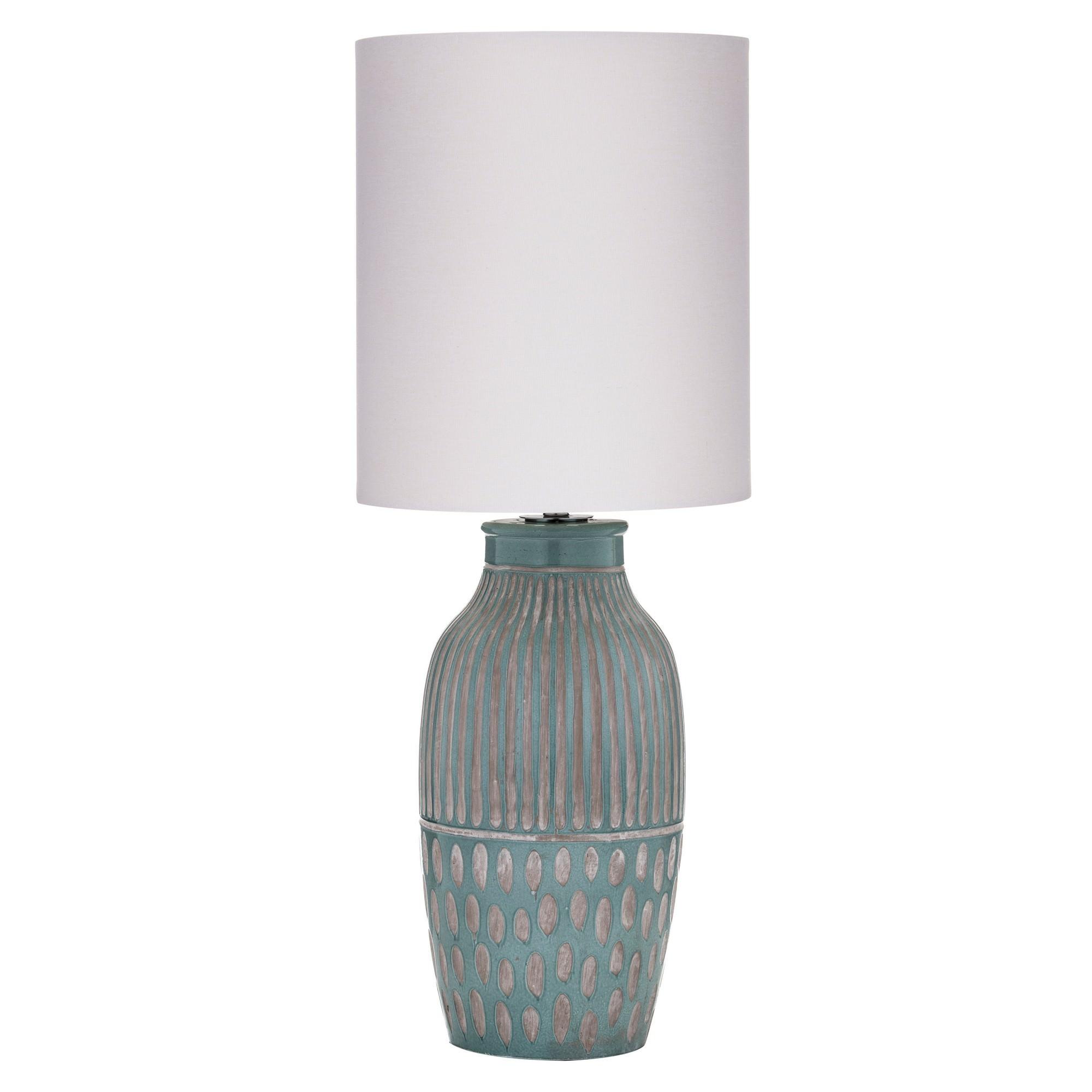 Bodil Ceramic Base Table Lamp, Turquoise