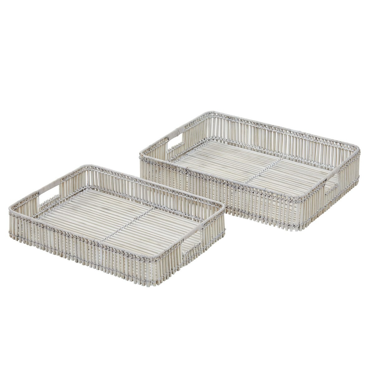 Haiti 2 Piece Bamboo Tray Set