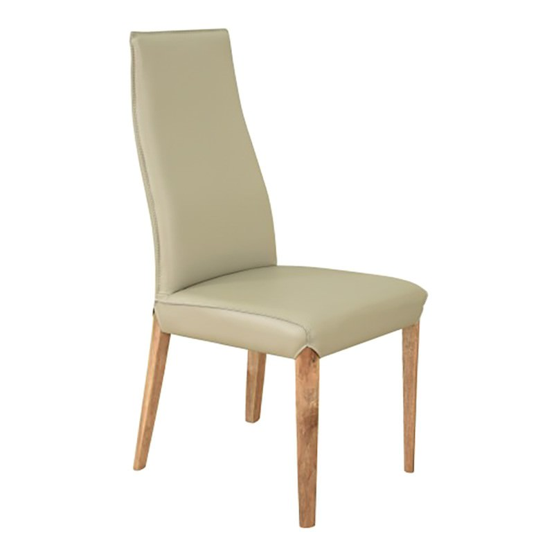 Talzano PU Leather Dining Chair, Cream