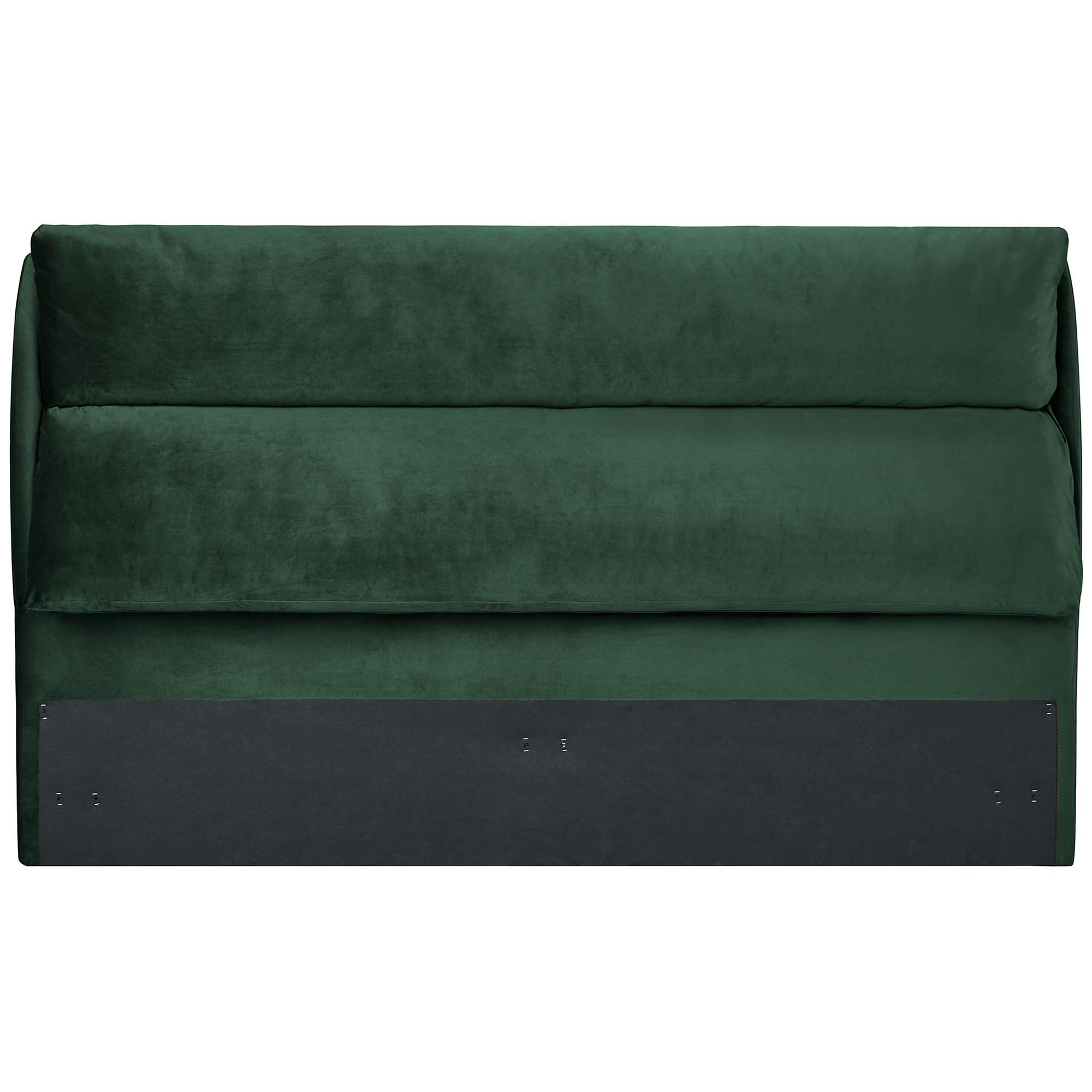 Velvet Fabric Bed Headboard, Queen