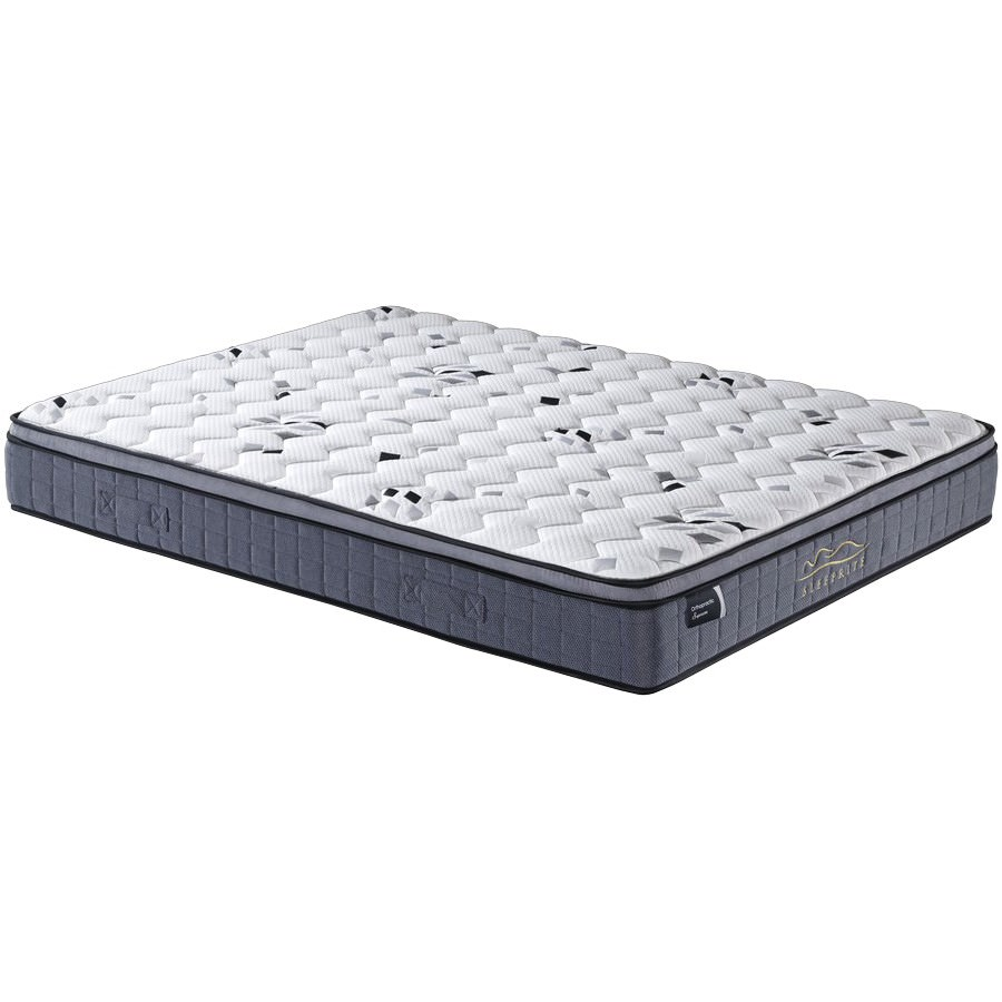 Orthopractic Supreme Pocket Spring Mattress with Latex & Memory Foam Pillow Top, King