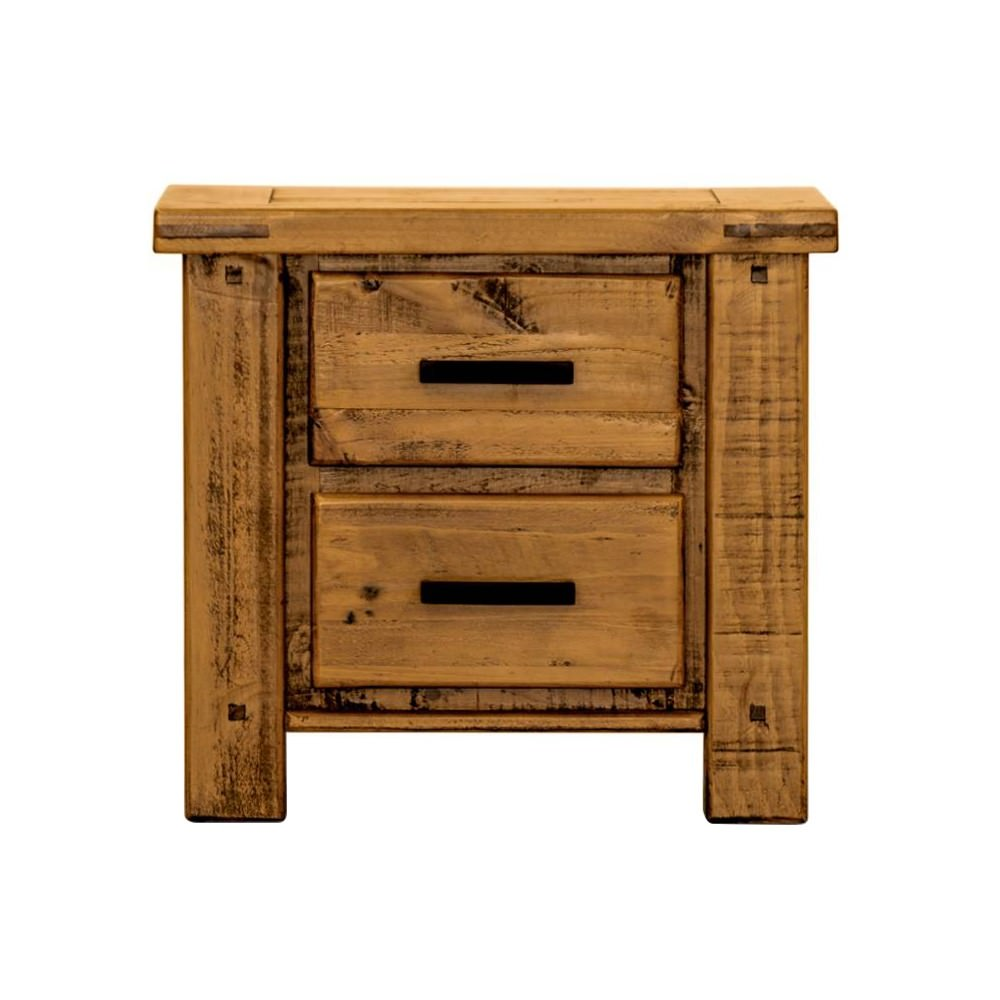 Oxley Pine Timber Bedside Table