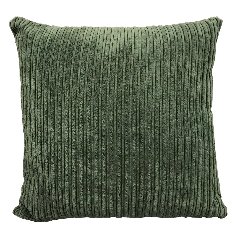 Roslev Fabric Scatter Cushion, Dark Green