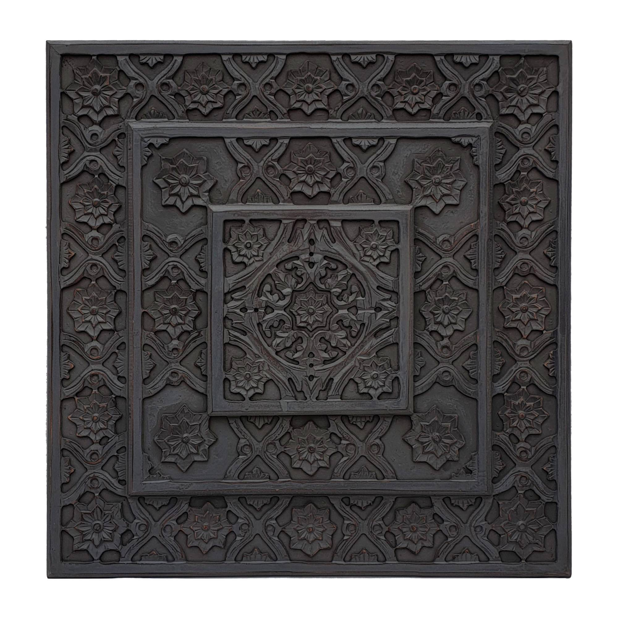 Indore Wooden Wall Art, 90cm, Charcoal