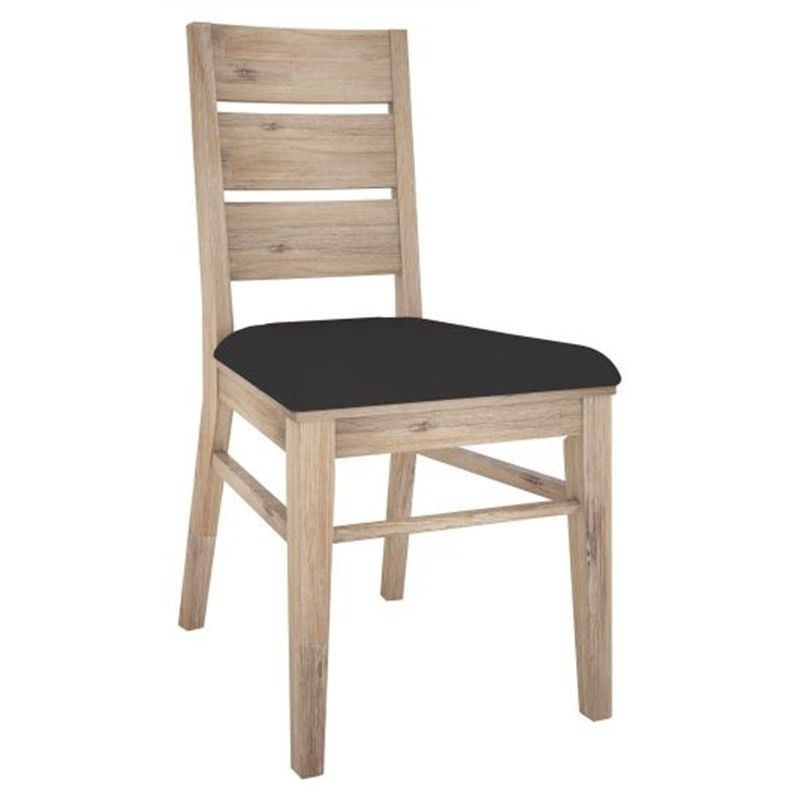Laccadive Acacia Timber Dining Chair with PU Seat
