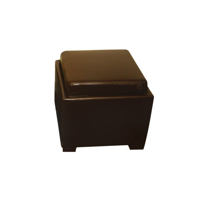 Bella Ottoman with Tray in Brown