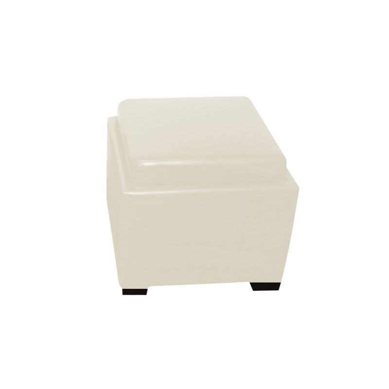 Bella Ottoman with Tray in Ivory