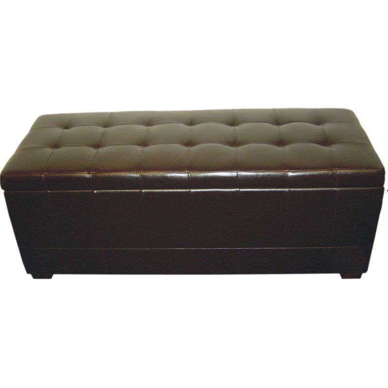Axel Storage Ottoman in Brown