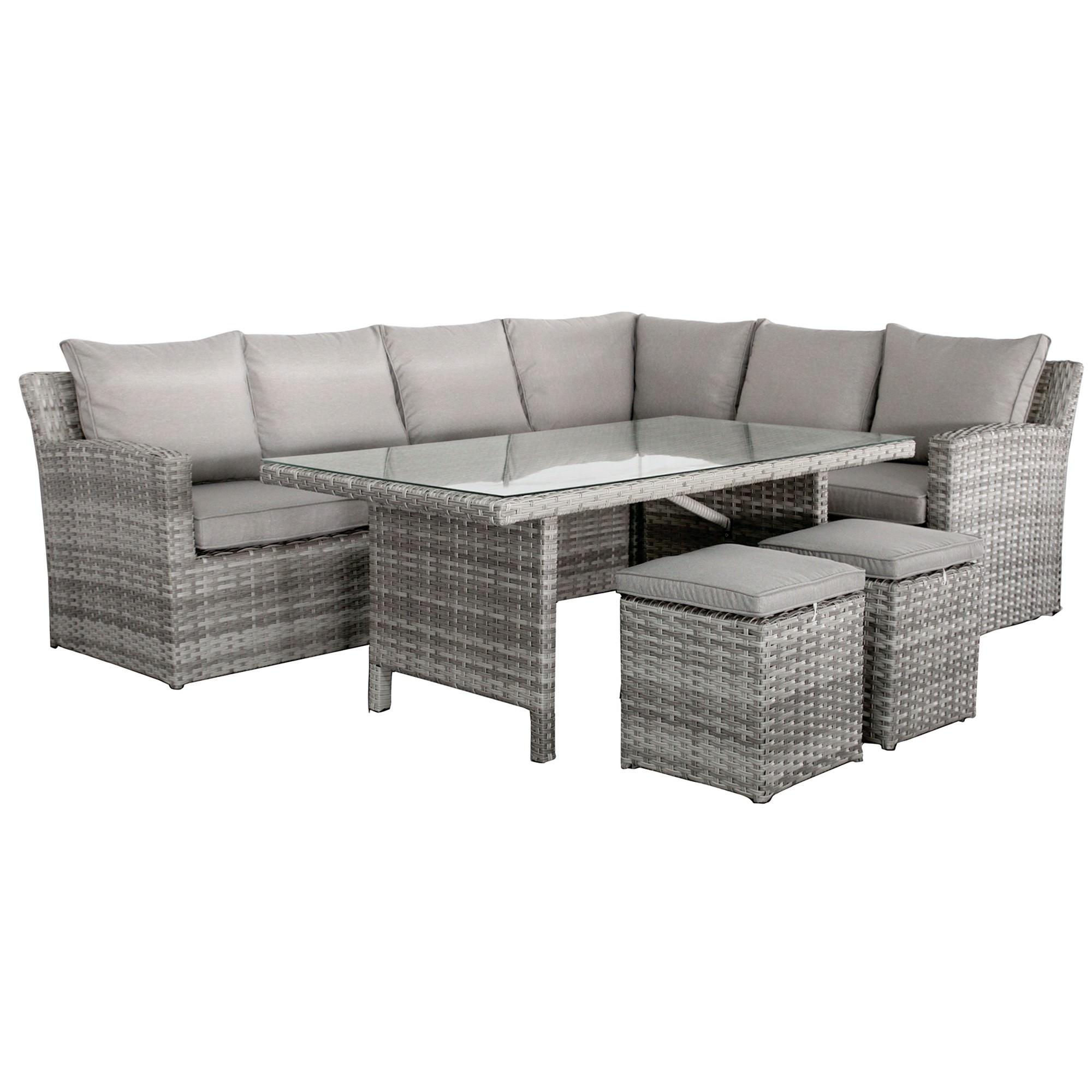 Maira 4 Piece Outdoor Modular Corner Sofa with Table Set
