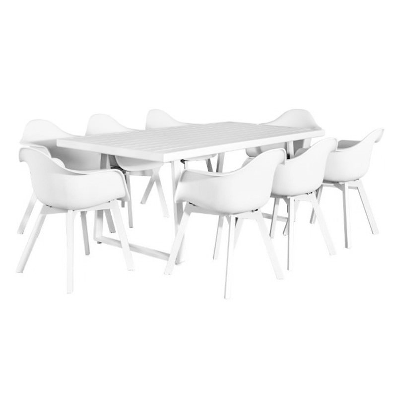 Bauer 9 Piece Outdoor Dining Table Set, 200cm