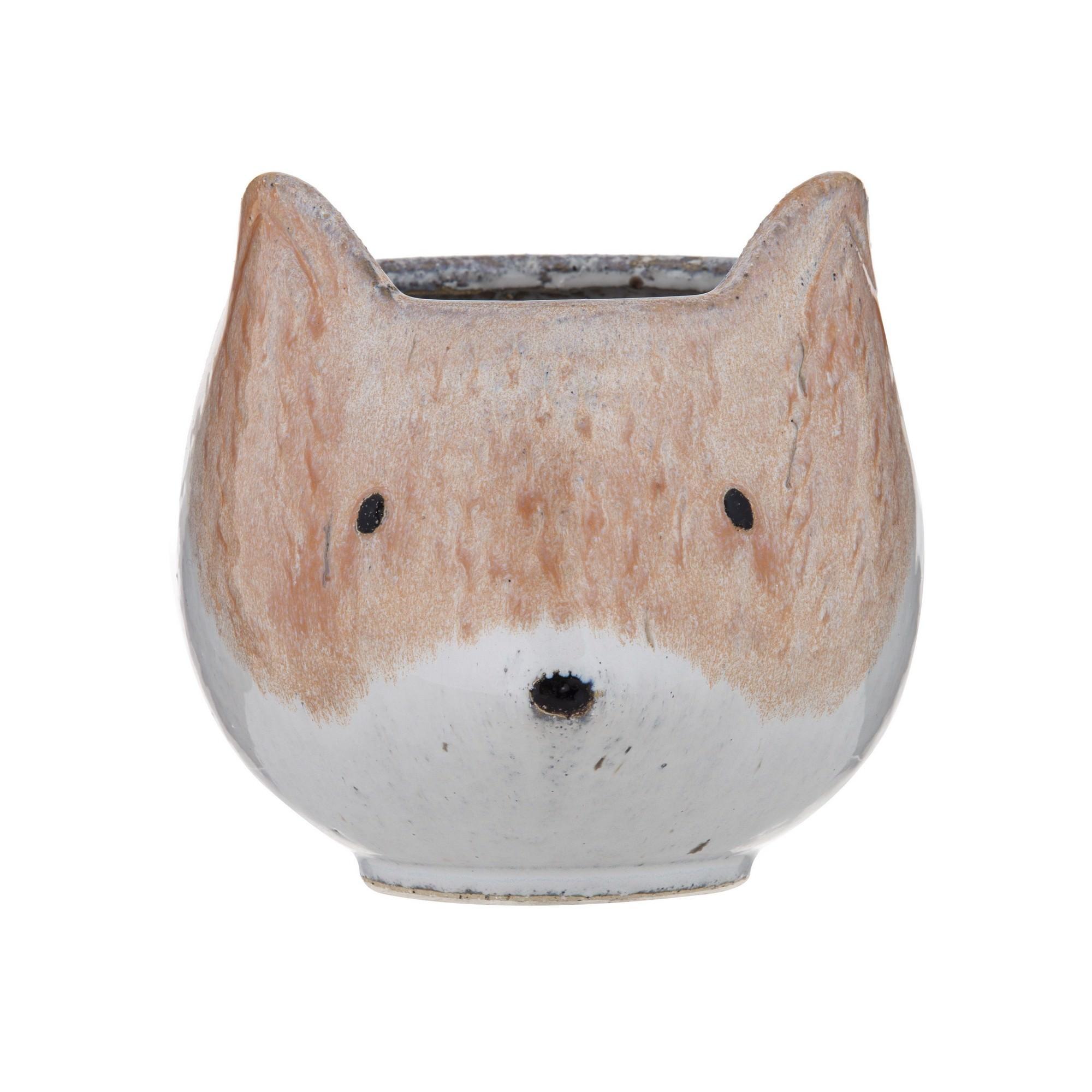 Felix Ceramic Fox Pot