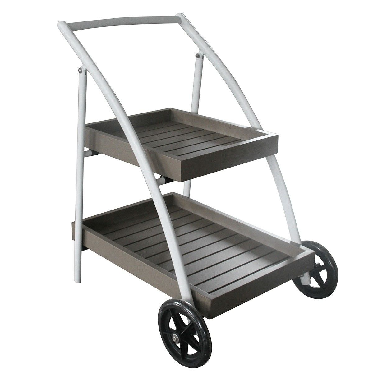 Ruby Aluminium Outdoor Drinks Trolley, White
