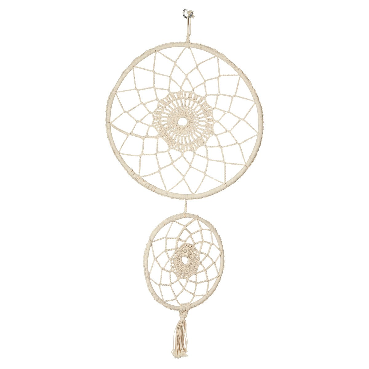 Boho Hand Knitted Cotton Dream Catcher