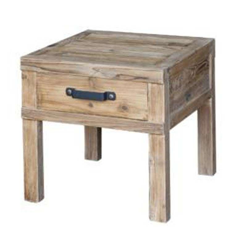 Petersham Solid Elm Timber Lamp Table