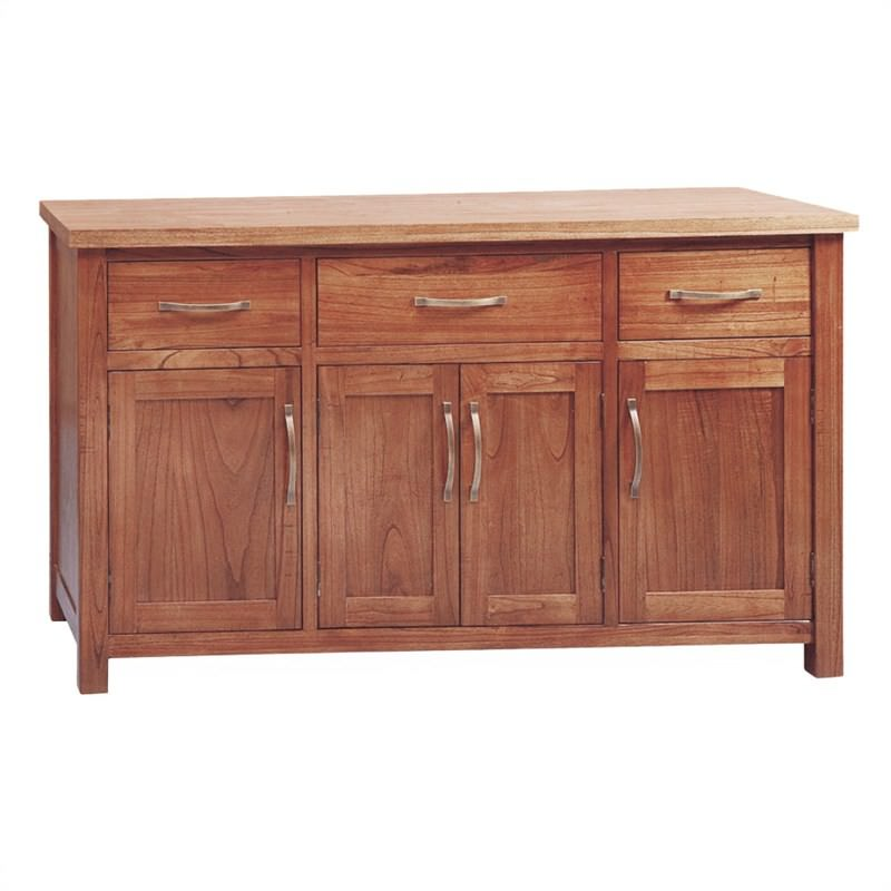 Cooper Mountain Ash Timber 4 Door 3 Drawer 160cm Buffet Table