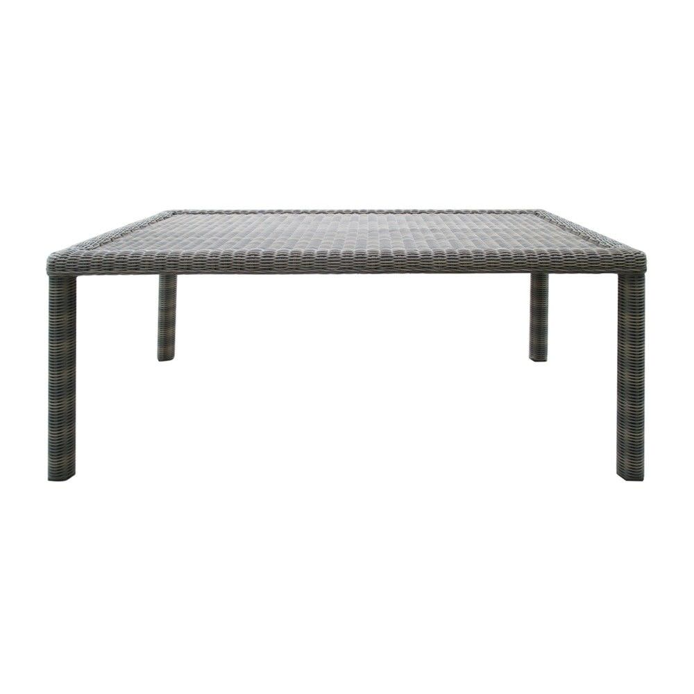 Kobo Wicker Outdoor Dining Table, 180cm, Khaki