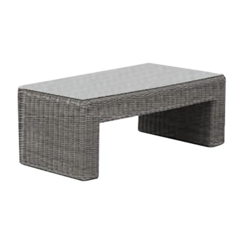 Kobo Wicker Outdoor Coffee Table, 120cm, Grey