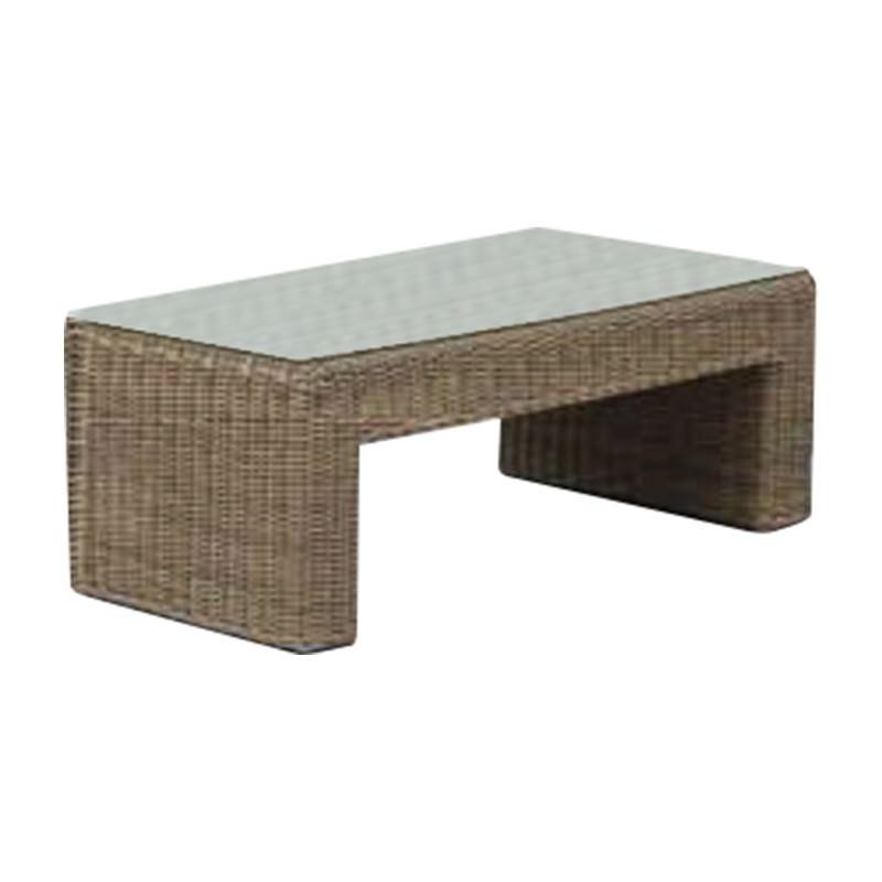 Kobo Wicker Outdoor Coffee Table, 120cm, Khaki