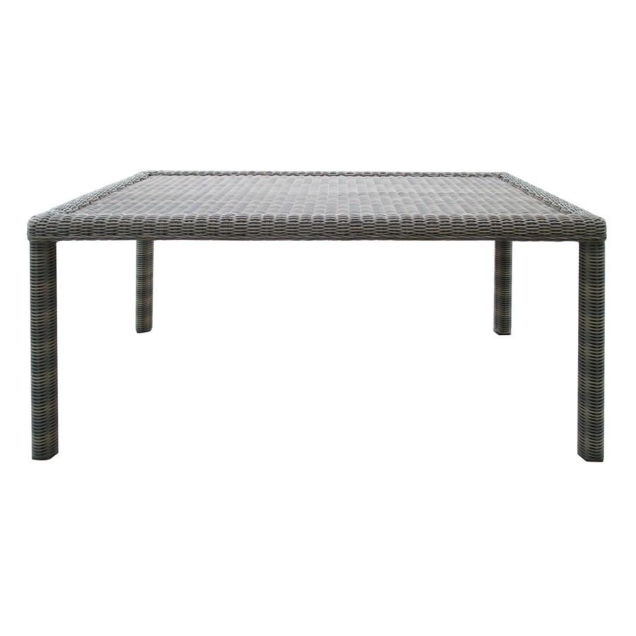 Kobo Wicker Outdoor Dining Table, 210cm, Grey