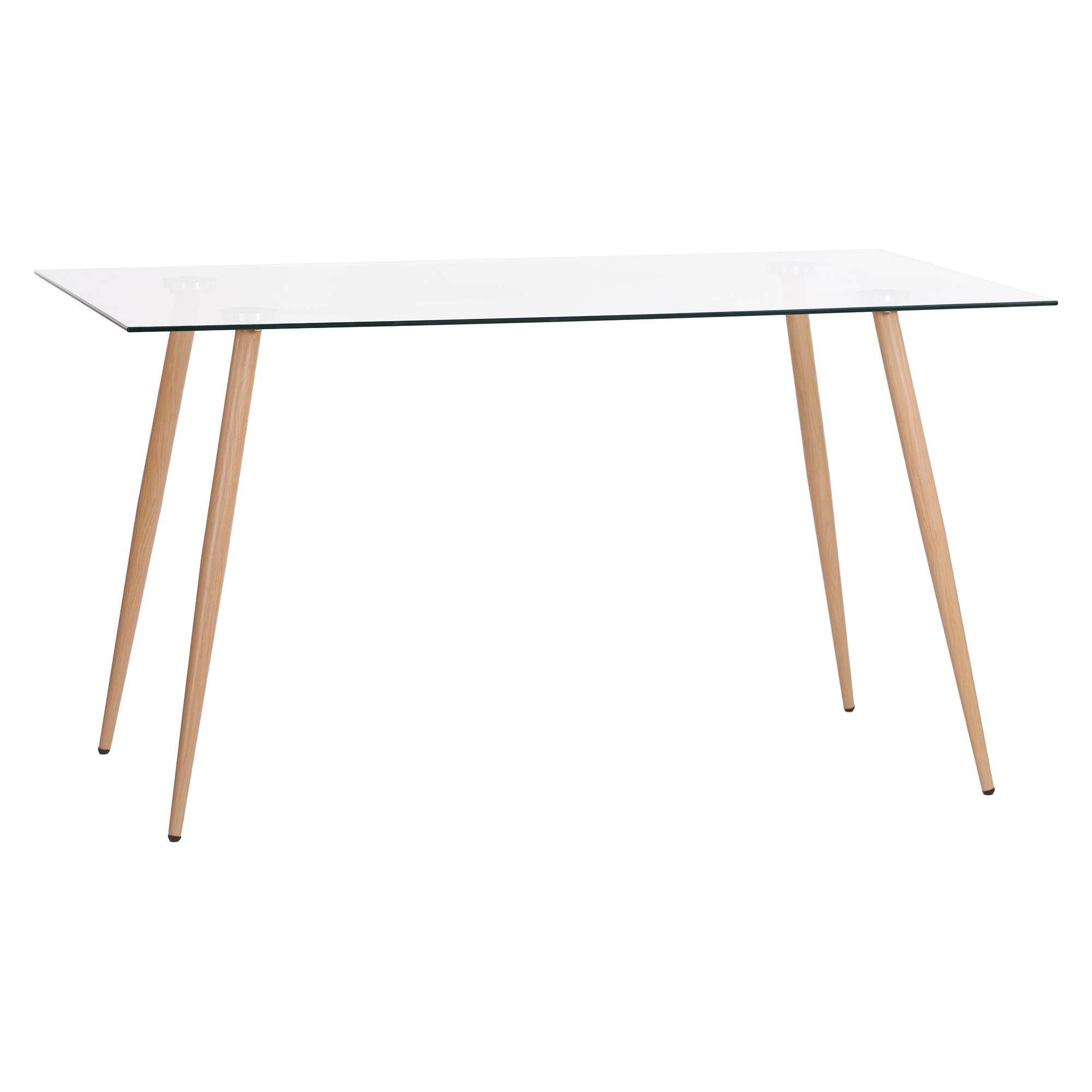Zolfo Tempered Glass Top Dining Table, 140cm