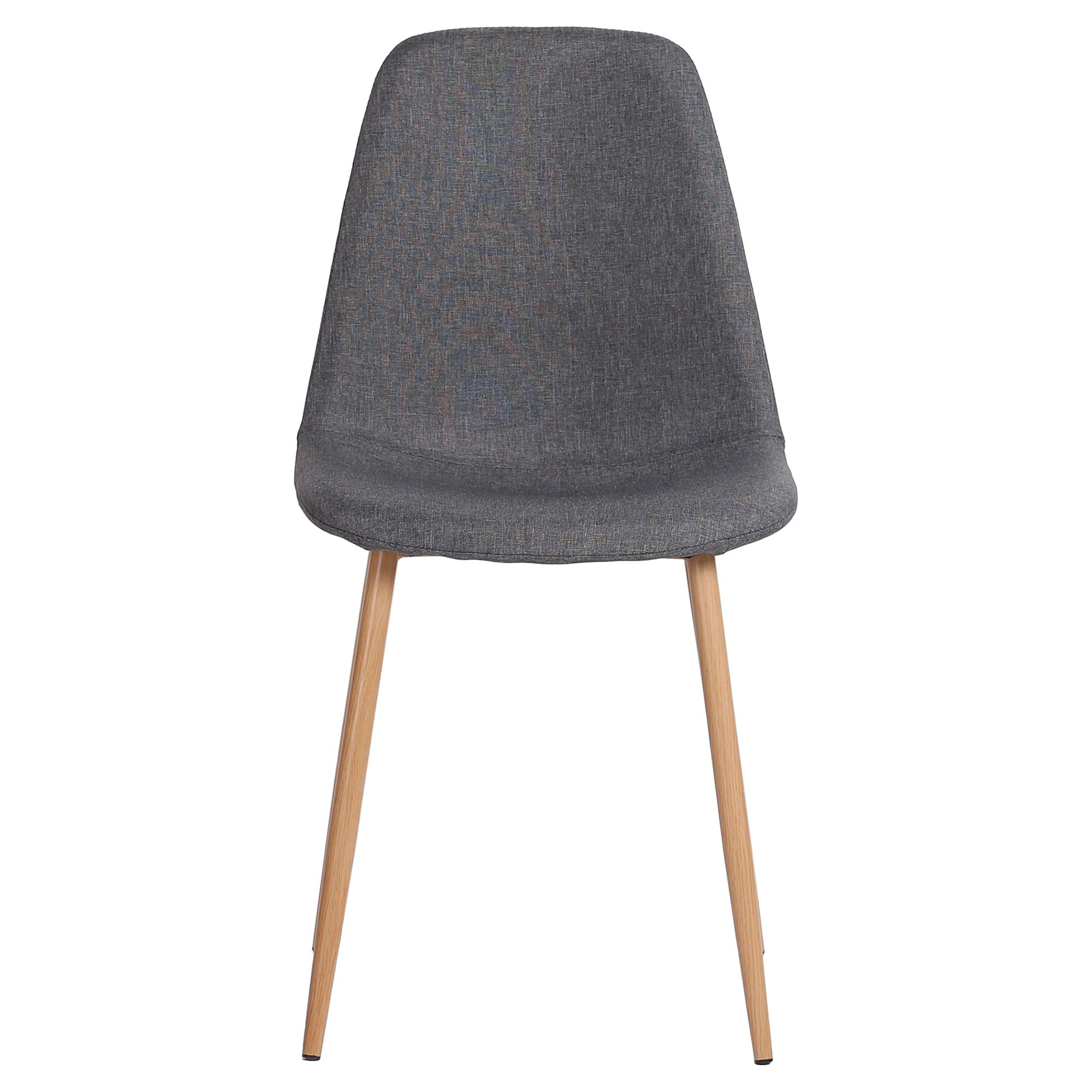 Zolfo Linen Fabric Dining Chair, Grey