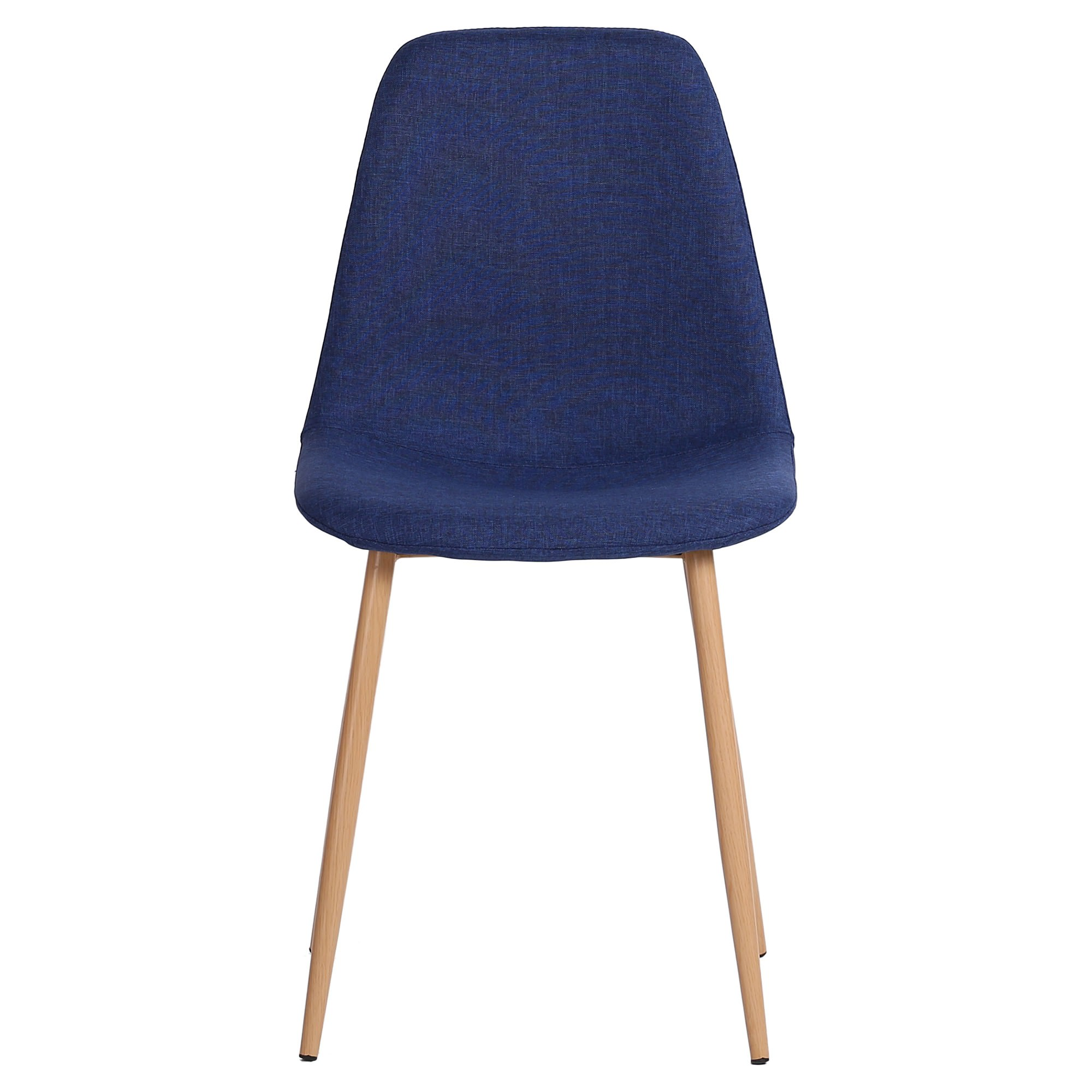 Picture of: Zolfo Linen Fabric Dining Chair Blue